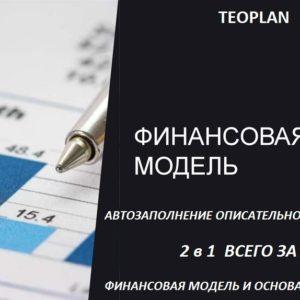 Универсальная финансовая модель с автоматической описательной частью