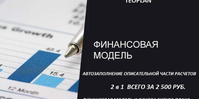 В магазин добавлена универсальная финансовая модель с автозаполнением выводов и описания