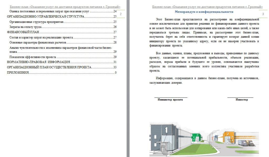 доставка товаров бизнес-план Чеченская ресспублика