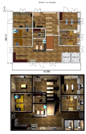 макет гостиничный комплекс «Горель»2020